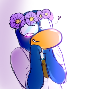 Gary W/ Flower Crown Doodle by Penny2415