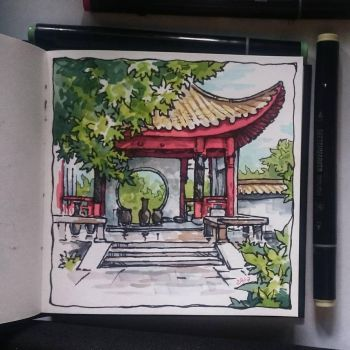 Instaart - Chinese garden by Candra
