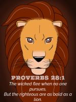 Proverbs 28:1 by 1234RoseSmith