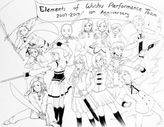 Elements of Wushu 10th Anniversary by kidokaproject
