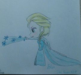 Elsa chibi by Nadia-Disney