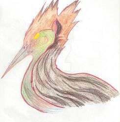 Color Pencil Bird by Paws-for-a-Moment