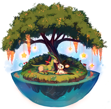 :commission: Our Tiny Private Paradise by KoriArredondo