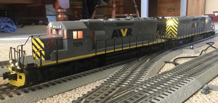 Custom AWVR No.s 7375 and 7346 SD40-2s by MeganekkoPlymouth241