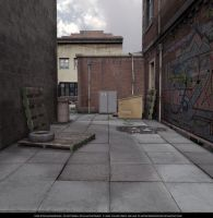 FREE STOCK - Overcast Alley by ArtReferenceSource