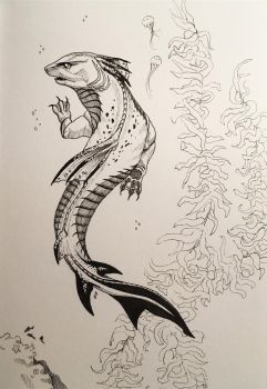 Inktober 2017 - day 4 - Underwater by Aquila--Audax
