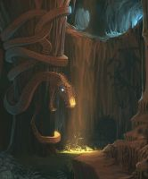 Snake Cave by Concept-Art-House