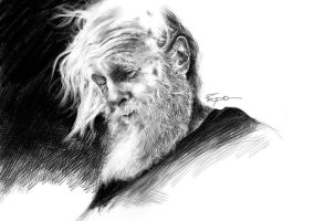 Old Man pecil by HPRADO