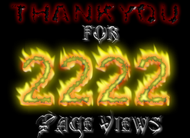 THANKS FOR 2222 PAGE VIEWS by Turbocharge0