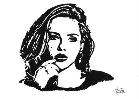 Scarlett Johansson in PopArt by daniart-de