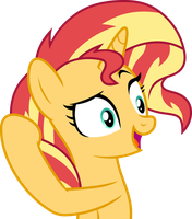 Mlp Fim Sunset Shimmer (yeah) vector by luckreza8