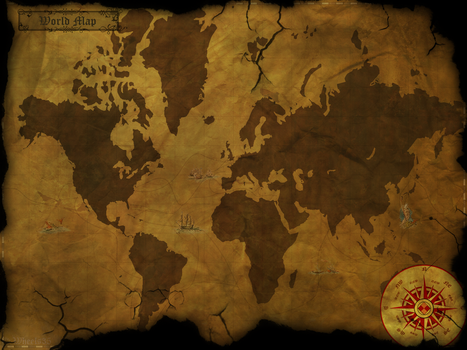 Old World Style Map by Wheels35