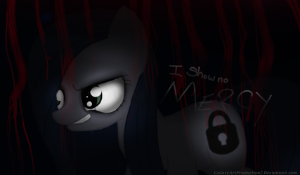 Mlp:Minkie pie:I show no MERCY by GalaxyArtProduction2