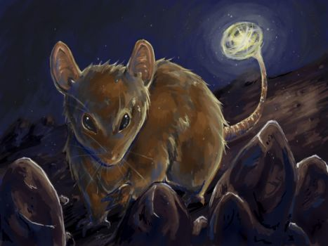 Speedpaint: Mouse with a light by white-angel-ariah