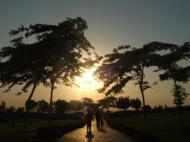 walking in sunset 3 by Magdyas
