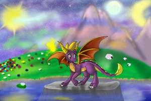 Spyro - Land of moon and sun by pikachu-25
