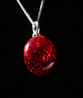Blazing Fire Glass Pendant by Hands-and-Teeth