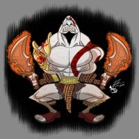 Kratos God Of War by RToledoMrSnOw