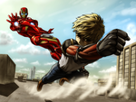 Genos VS Ironman by EastCoastCanuck