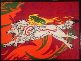 Okami Duck Tape art by DuctTapeDesigns