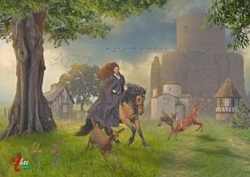 Girl On The Horse - dheean by dheean