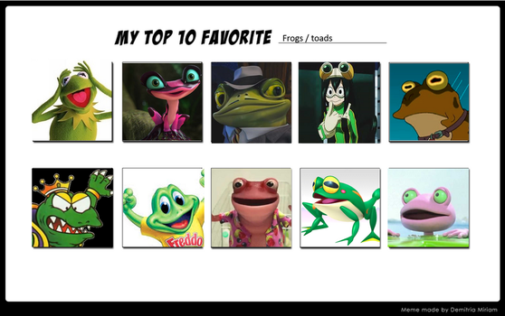 My Top 10 Frogs And Or Toads by 0jama-rainbow