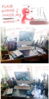 My working space by Brilcrist