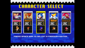 Select your freedom fighter Demo Ver by ClassicSonicSatAm