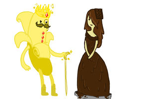 banana king and chocolade queen by Thea0605