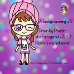 A drawing of my Fantage person by fantagerocks2013
