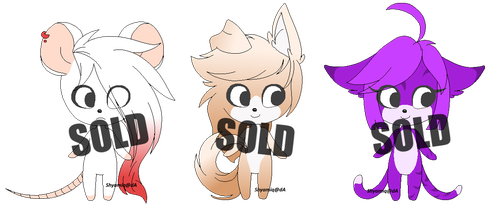 Lil' Nude Adoptables Batch SOLD by Shyamiq