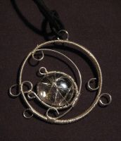 Waxing Moon Amulet by LeafOfSteel