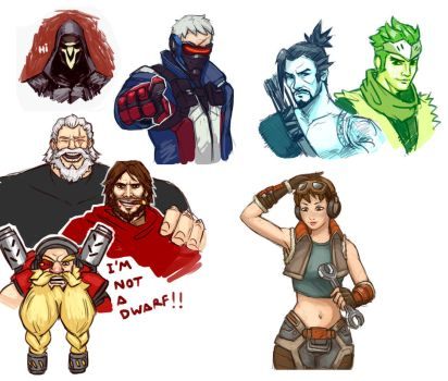 Overwatch Doodles by FonteArt