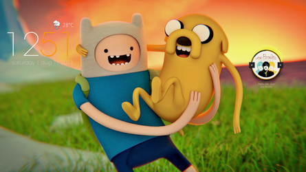 Finn and Jake by whimsy3sh