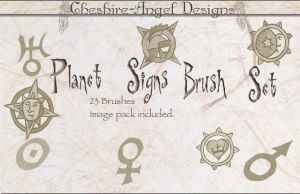 Planet Signs Brush Set by Cheshire-Angel