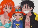 Luffy Nami and son :D by Lucy-chan90