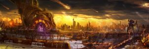 The Day the Skies Rained Fire by TheArtofSaul