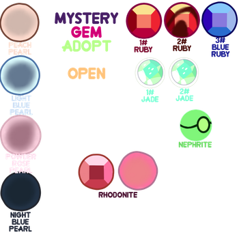 {Gem Adopts} *cheep* Mystery Themed Gems CLOSED by vienna-adopts