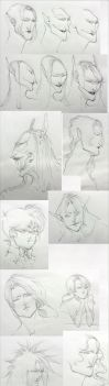 Traditional Sketch Dump 3 by IJKelly