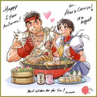 Ryu and Sakura Happy Couple! by r-chie