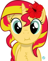 Mmmm Sunset Shimmer vector by arifproject