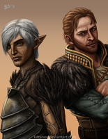 Anders and Fenris in Color by Kittanee