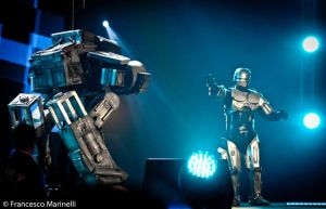 Ed-209 and Robocop Costumes- Romics Cosplay Awards by SilviaArts