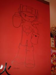 Megaman.exe on my wall by megaman93