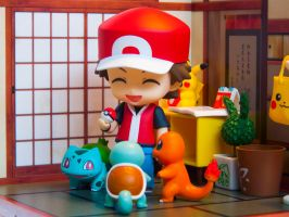 Red and His Starter Pokemon by ElliesAnimeFigures