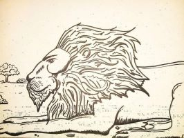 The Lonley Lion. by Noah-Kirkpatrick