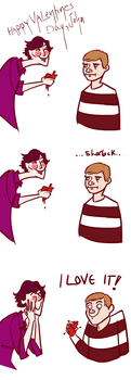 SHERLOCK GIVES JOHN HIS HEART by derpana