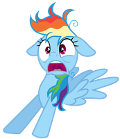 Rainbow Dash startled awake by Tardifice