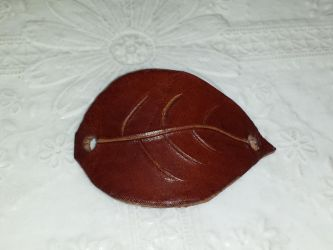 Leather Barrette by AngelGuerra