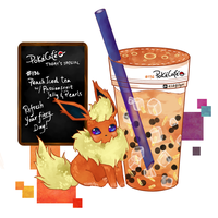 Pokecafe Series: Flareon by lynchees